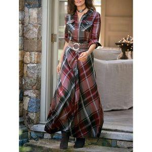 Soft surroundings plaid terrific tartan maxi dress